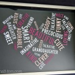 "Heart Shaped ""Word Cloud"" Vinyl Word Art"