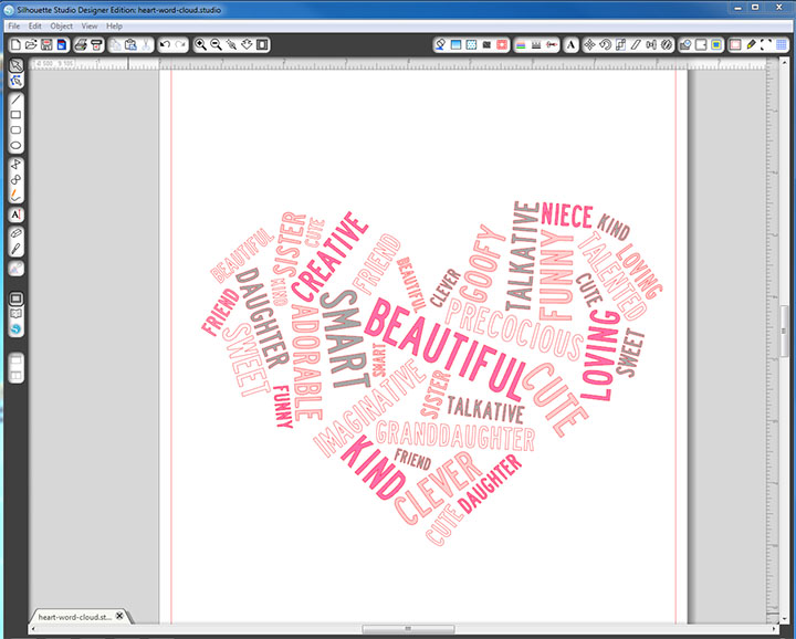 Make a word cloud in any shape you want, then import it into Silhouette Studio and cut the words out of vinyl for beautiful, personalized word art!