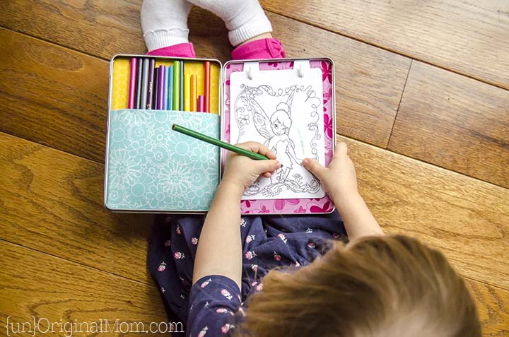 Upcycle a DVD case into a portable coloring kit - so fun!