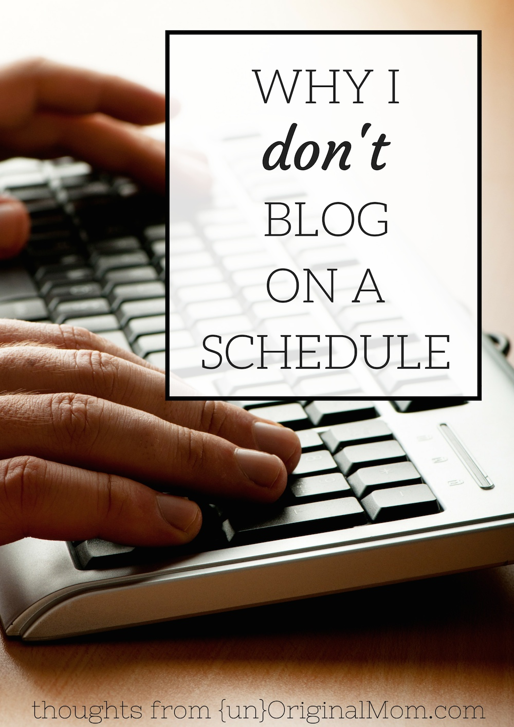 Great thoughts on the benefits of throwing away your posting schedule