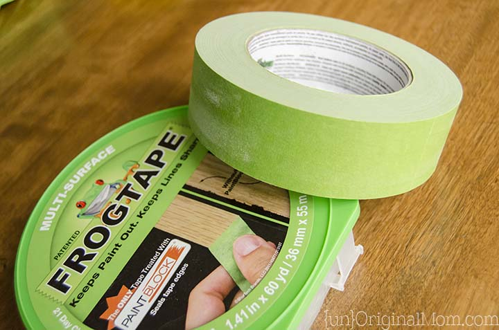 Living room gray paint makeover with Frog Tape