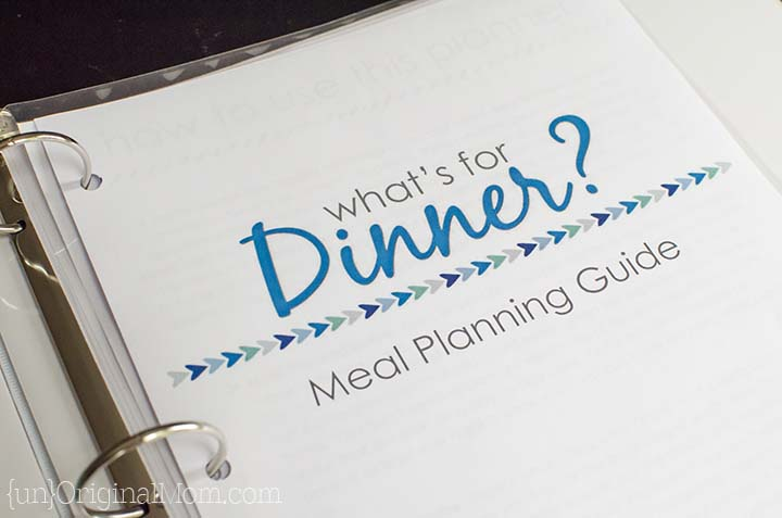 Free Printable Flexible Meal Planning Guide - unOriginal Mom