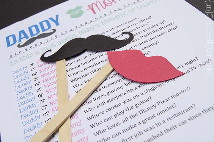"""""""Daddy or Mommy?"""" - fun idea for a baby Shower game!"""