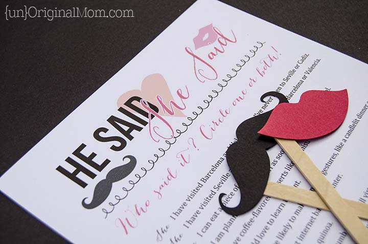 """He Said She Said"" - fun idea for a bridal Shower game!"