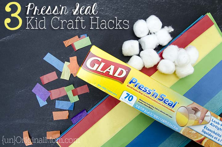 3 genius kid craft hacks using Glad Press'n Seal - I had no idea you could use it for crafting!