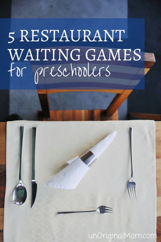 5 restaurant waiting games for preschoolers