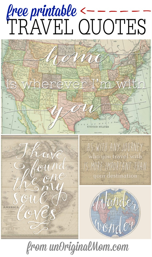 Free Printable Travel Quotes Unoriginal Mom