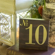 DIY Wood Table Numbers for a Wedding