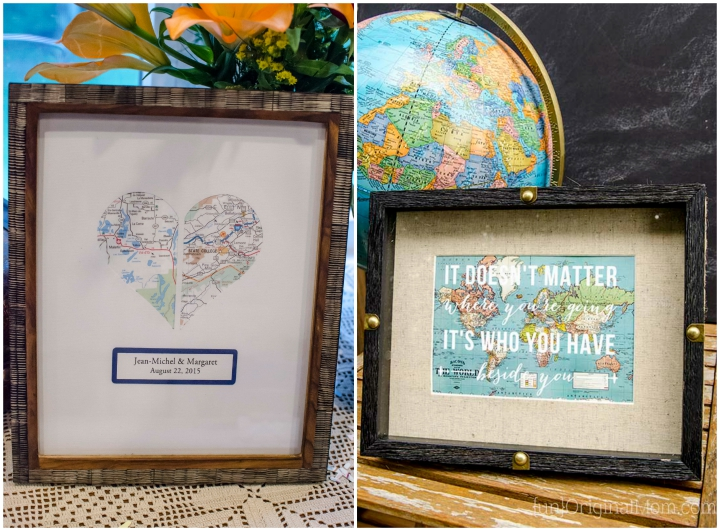 Two Travel Themed Decor Ideas Would Make Great Gifts For A Shower Or Wedding