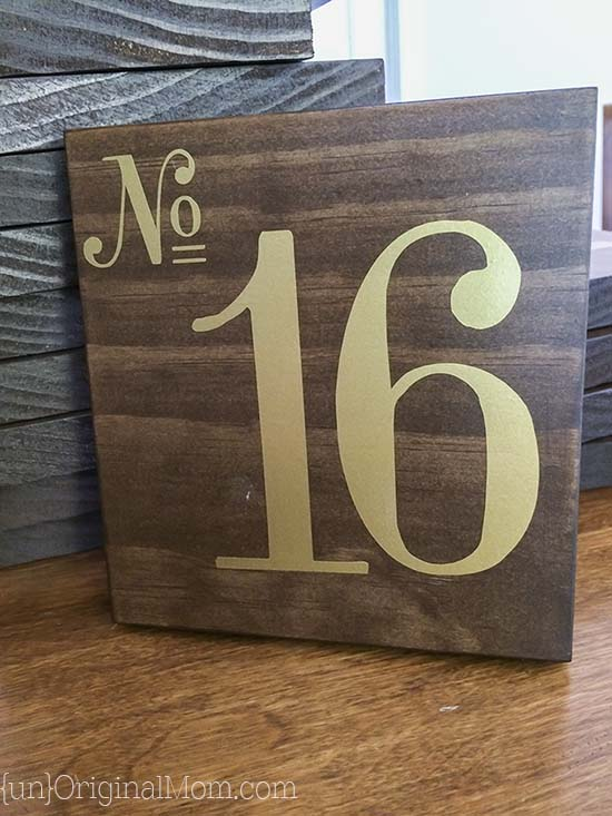 Step by step tutorial to make beautiful stained wood table numbers