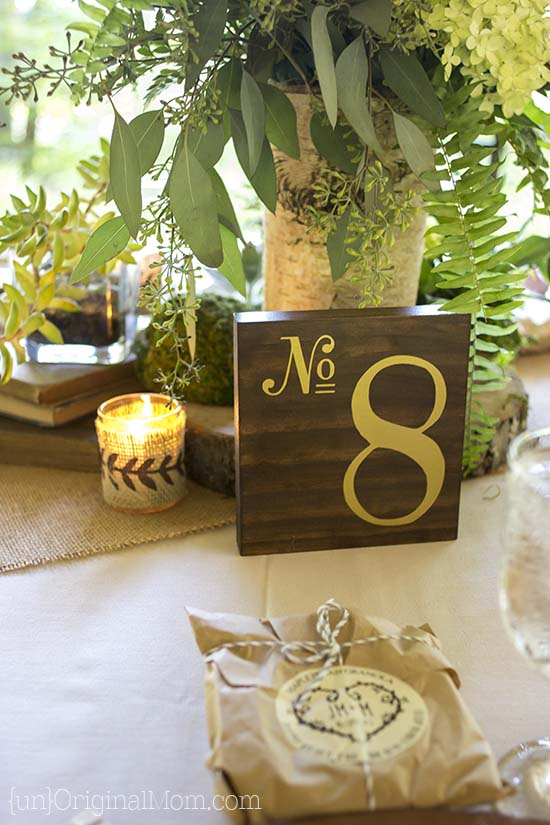 Diy Wood Table Numbers For A Wedding Unoriginal Mom