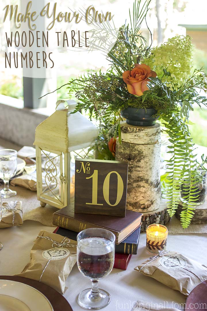 Tutorial to make wooden table numbers for a wedding...beautiful for a woodland or enchanted forest wedding theme.