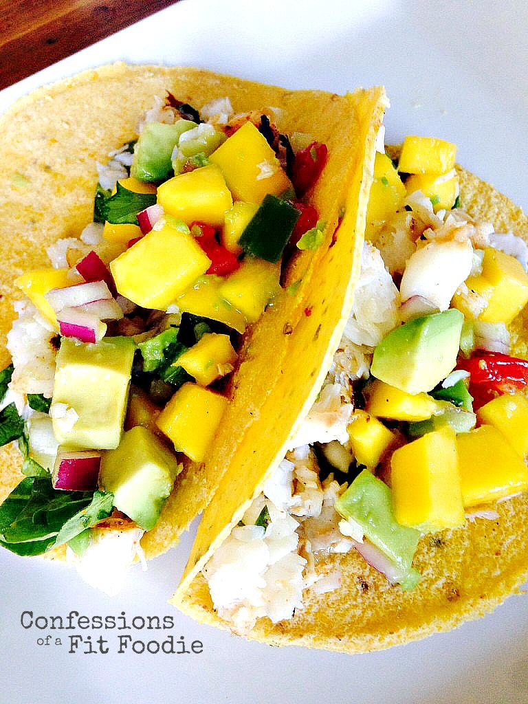 21 Day Fix Fish Tacos with Mango Salsa - Confessions of a Fit Foodie