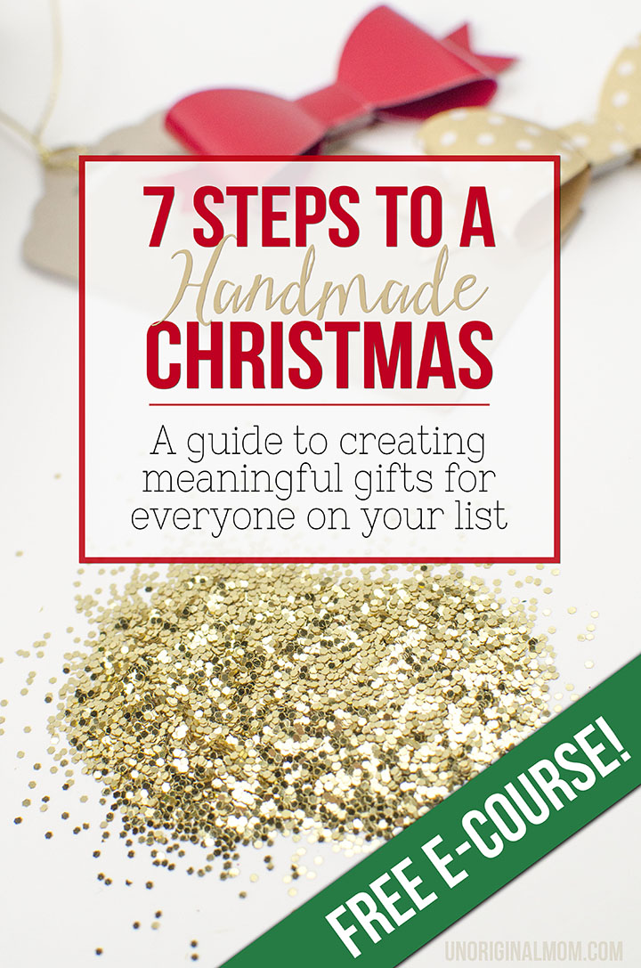 7 Steps to a Handmade Christmas - a FREE email course with exclusive content, free printables, and lots of inspiration!