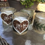 Burlap Wrapped Votives
