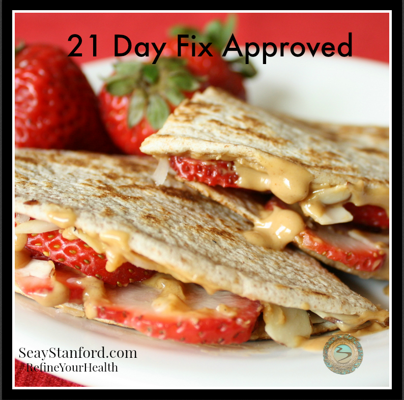 "Grilled Fruit ""Quesadilla"" from Seay Stanford"
