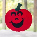 Window Cling Jack O'Lanterns with your Silhouette