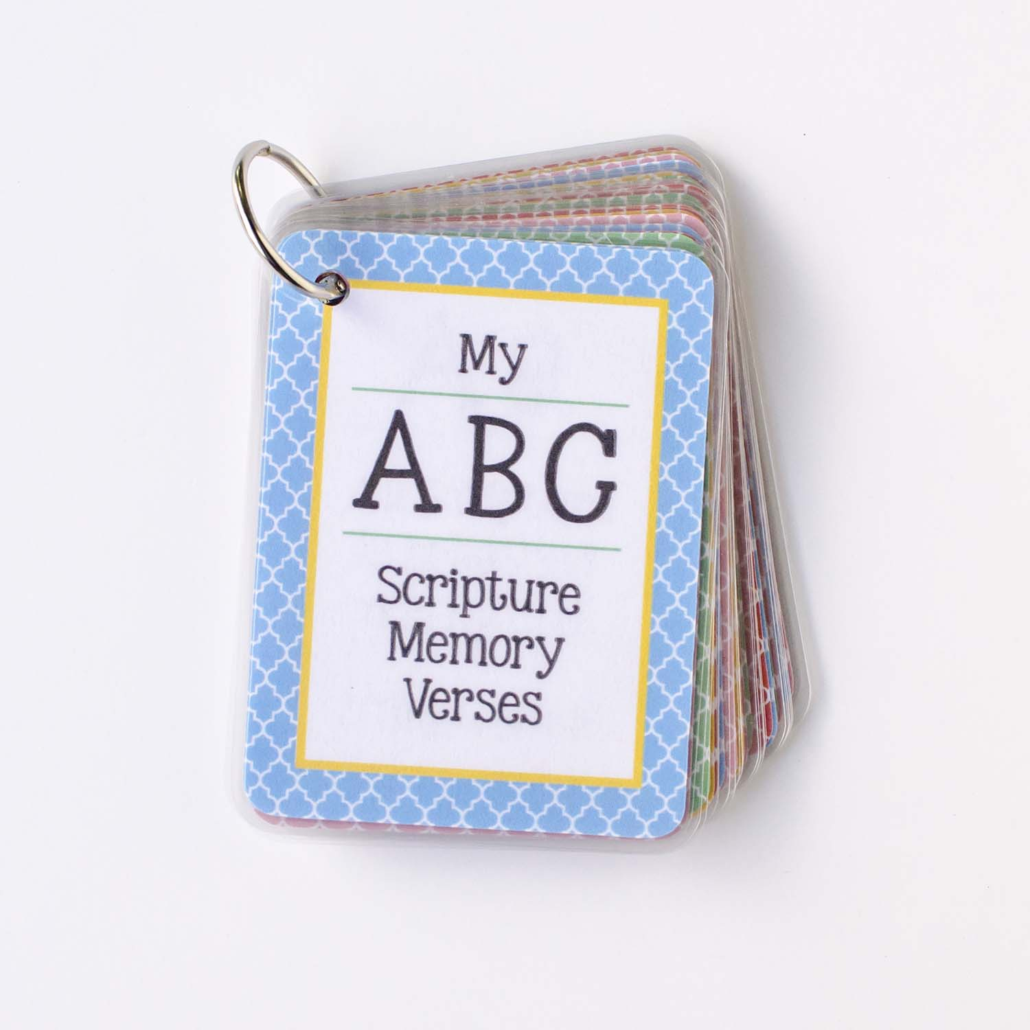 image regarding Abc Cards Printable identified as Printable ABC Scripture Memory Playing cards - unOriginal Mother