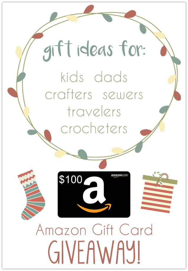 A great collection of gift ideas, and a giveaway for a $100 Amazon gift card!