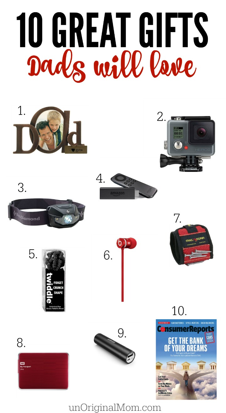 10 great gifts that dad is sure to love!