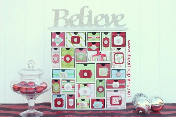 Silhouette Shadow Box advent calendars