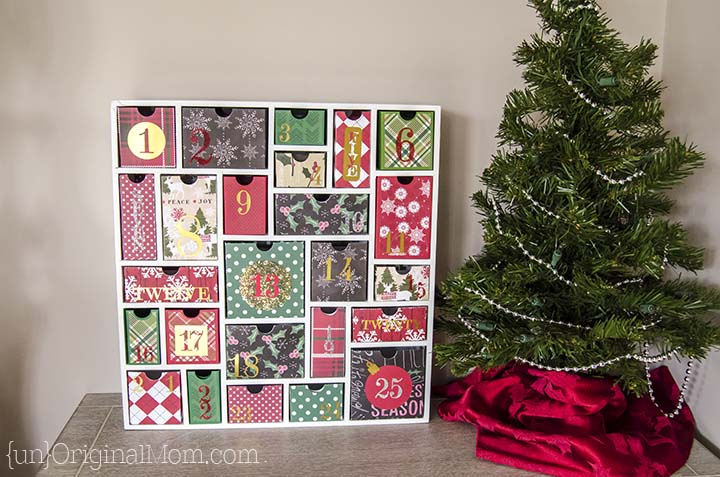 Silhouette's shadow box advent calendar