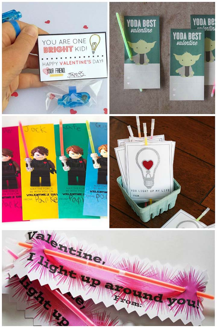 Free printable non-candy valentines - light-up valentine ideas