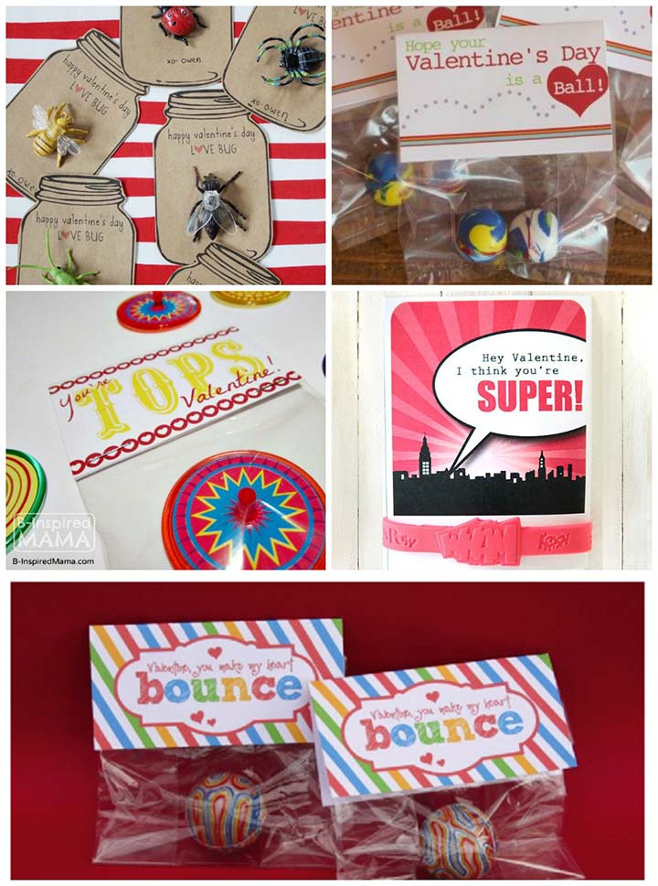 Free printable non-candy valentines - small toy valentine ideas