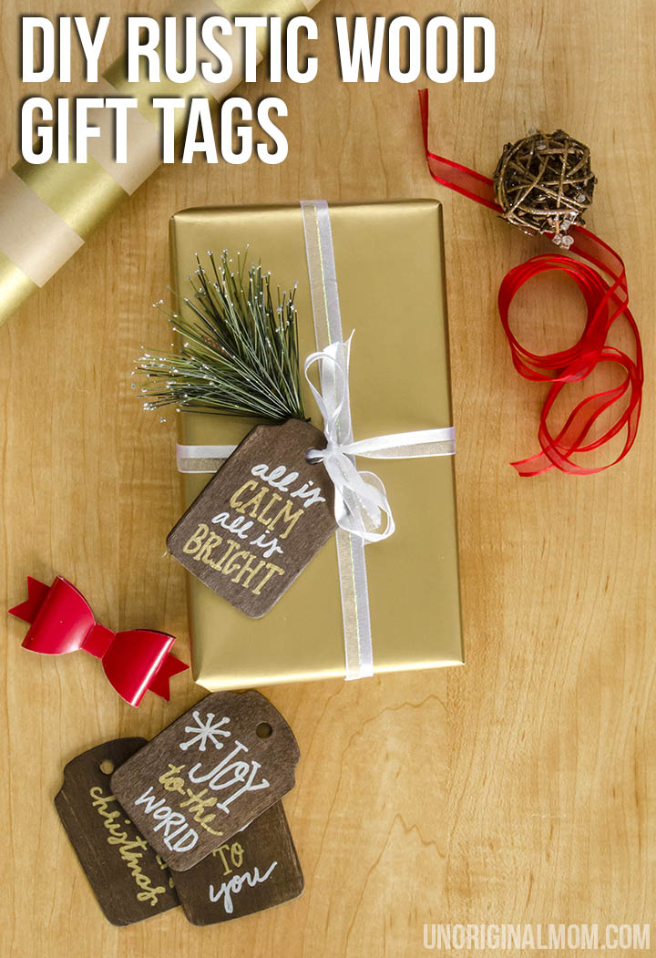 Christmas Gift Tags Diy.Rustic Stained Wood Gift Tags Unoriginal Mom