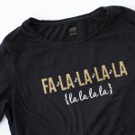 Fa la la Christmas Shirt with Glitter HTV