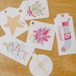 Free Printable Watercolor Gift Tags for Christmas