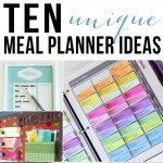 10 Unique Meal Planner Ideas