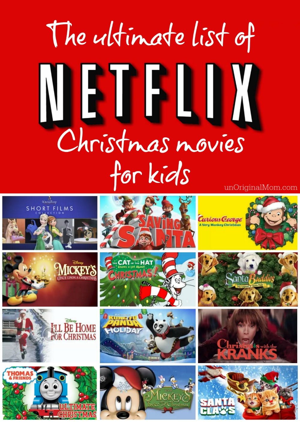 Netflix Christmas Movies for Kids - unOriginal Mom
