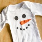 Two Easy DIY Snowman Onesies