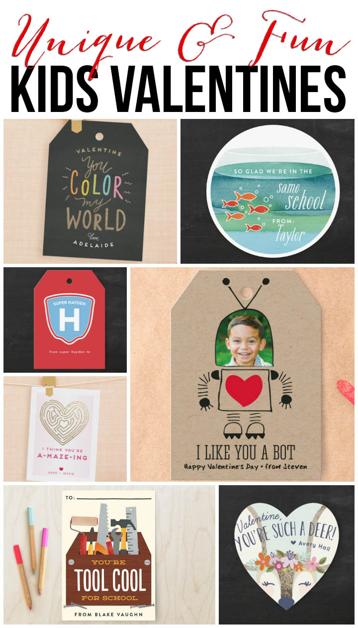 Amazingly cute and unique classroom valentines! They didn't make them this cute when we were young!