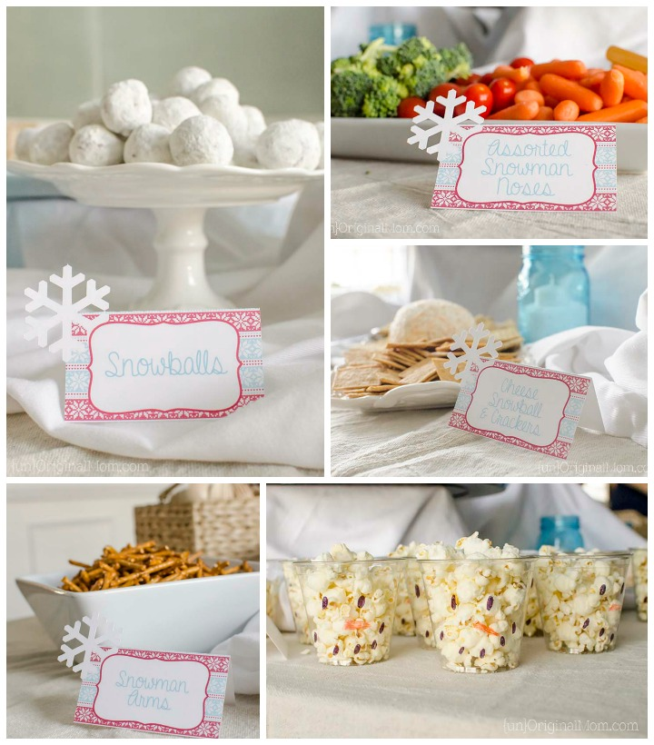 Such fun ideas for food at a winter themed party!
