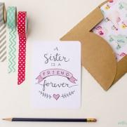 Free Printable Sister Valentine Note Card