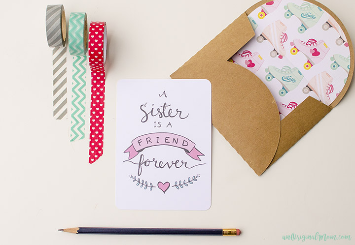 Free printable sister valentine note card unoriginal mom send a valentine to your sister or a note just because these m4hsunfo Choice Image