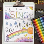 Relax & Color – Free Printable Musical Coloring Page
