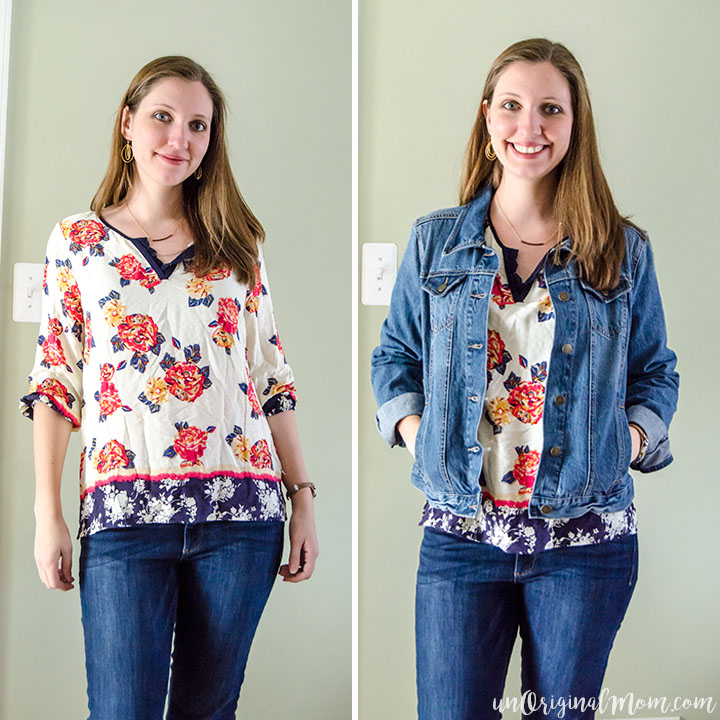 Stitch Fix Review: Xylona Lace Detail Top