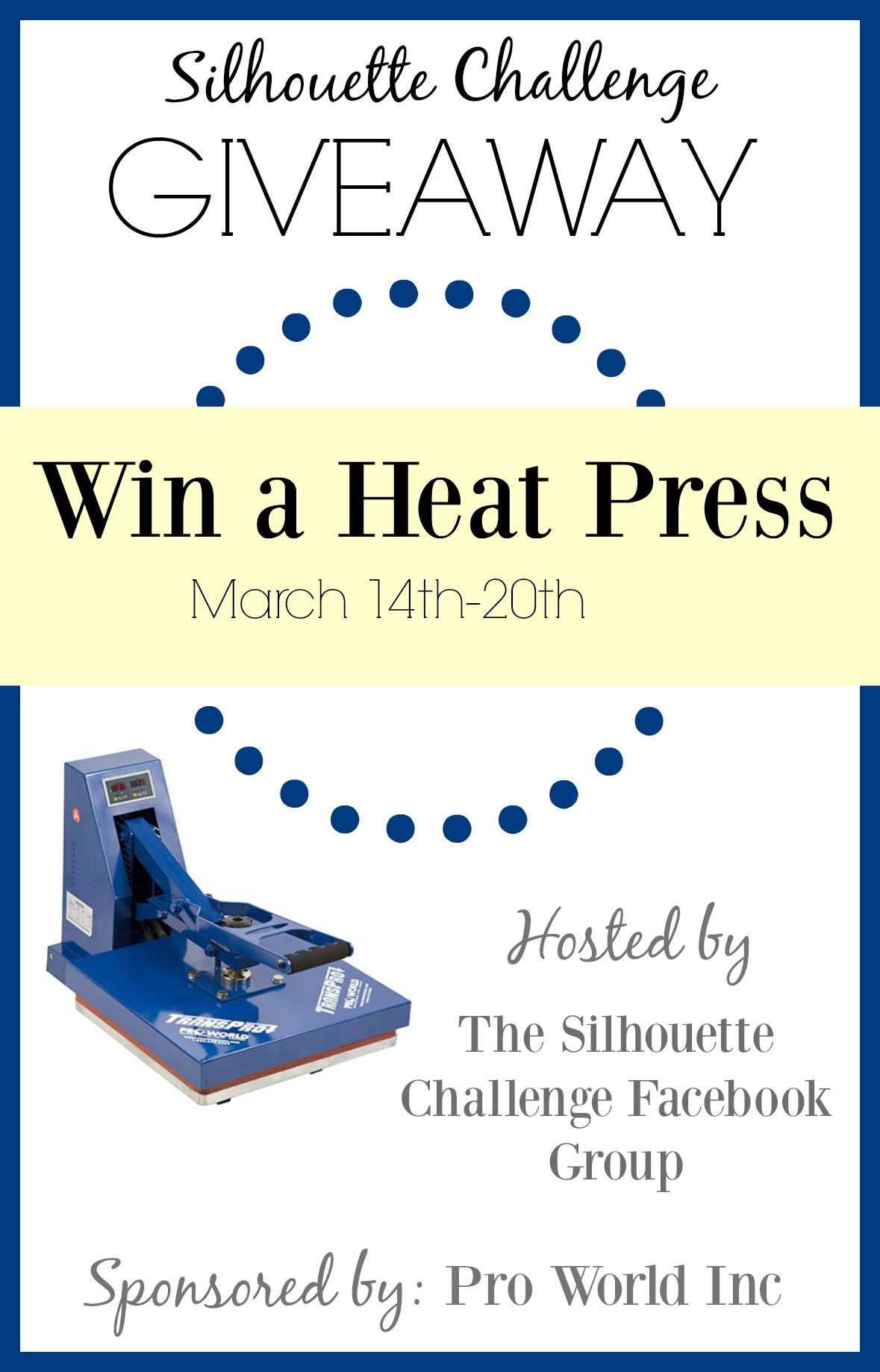 Heat Press GIVEAWAY! Enter to win March 14-20, 2016