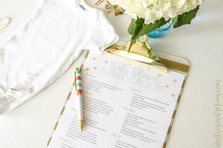 Free Printable Baby Shower Planning Checklist Unoriginal Mom