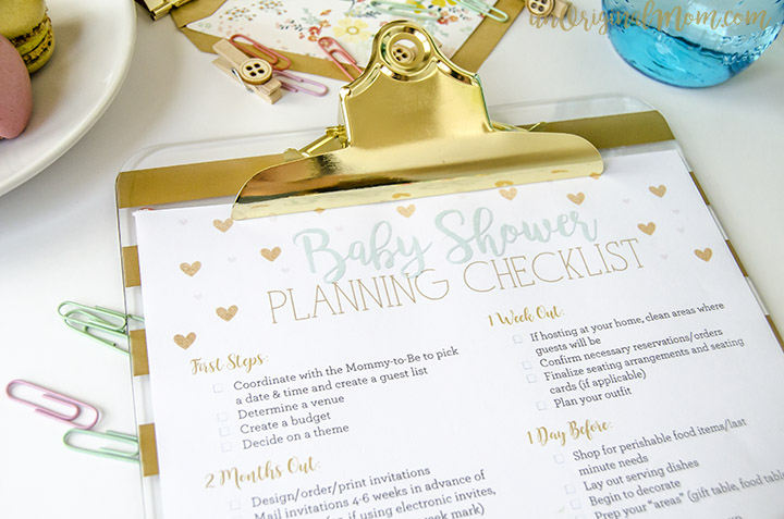 Free Printable Baby Shower Planning Checklist - unOriginal Mom