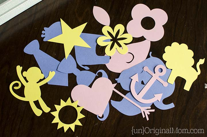 Use your Silhouette or just print a variety of shapes on card stock and cut them by hand for guests to use as templates. You'll need pencils for them to trace the templates onto the back of their fabric.