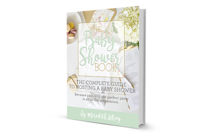 The Baby Shower Book - the complete guide to hosting a baby shower, packed full of organization tips, crafty inspiration, and printables!