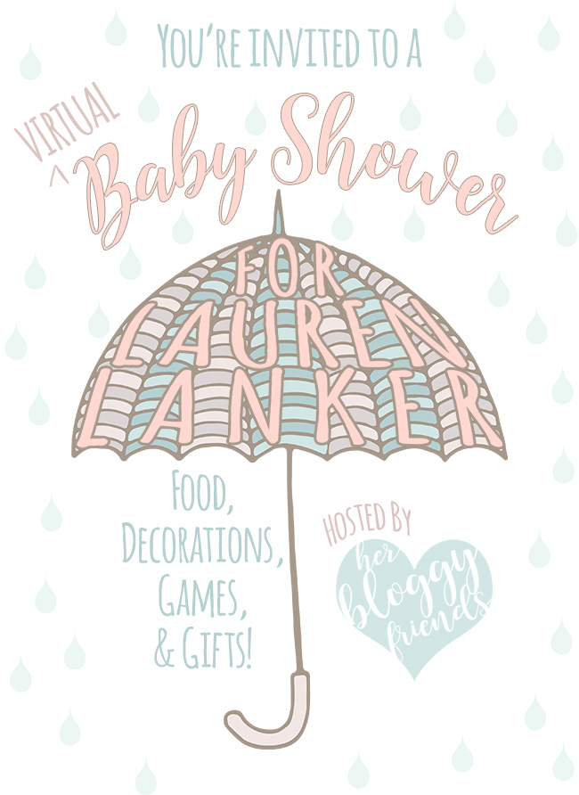 "A ""virtual"" baby shower with ideas for food, games, gifts, and decor!"