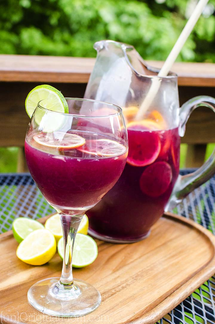 Best Ever Sangria - delicious recipe for classic red sangria. Not too sweet, just right!