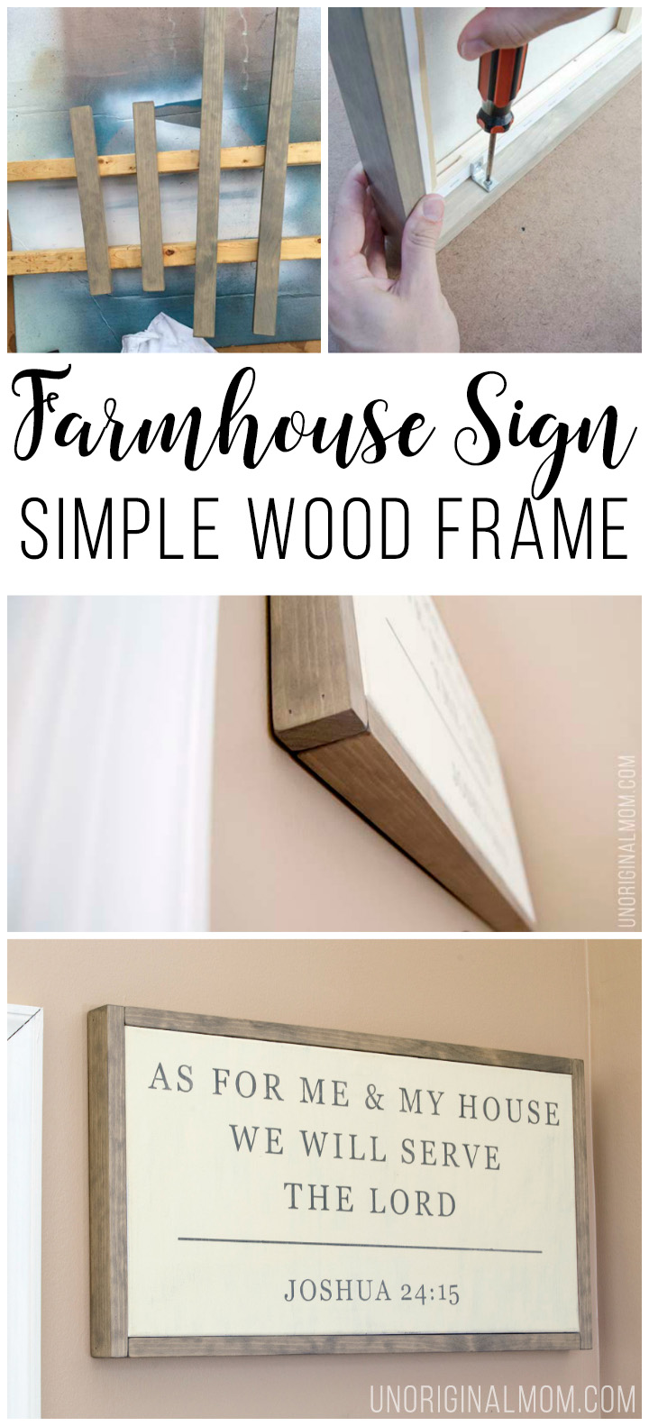 How to make an easy wood frame for a canvas