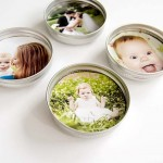 Upcycled Mason Jar Lid Magnets