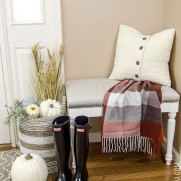 Foyer Nook Decorated for Fall
